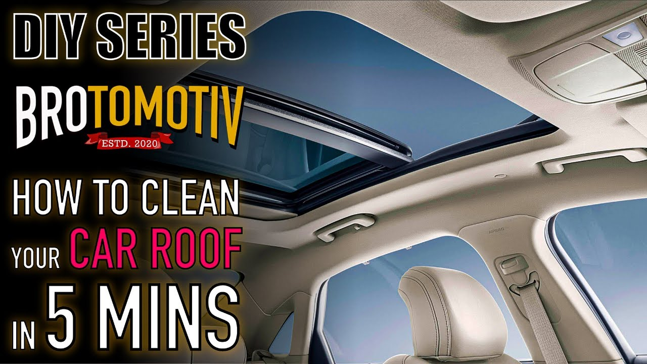 CarzSpa- How to Clean the Car internal Roof/ Headliner | Hindi | Brotomotiv | Detail-it-yourself