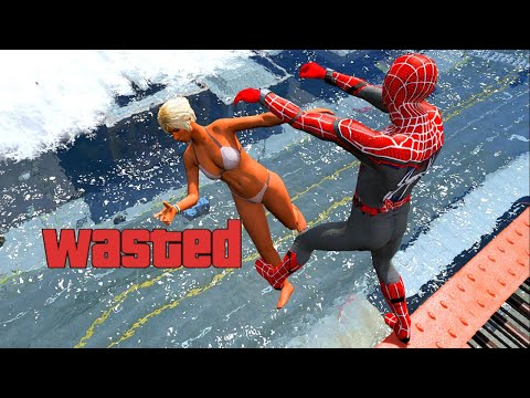 GTA 5 Epic Wasted SpiderMan Compilation Flooded Los Santos ep.192 (Funny Moments)