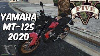 FUGA COM A *NOVA* YAMAHA MT 125 | GTA V | Z7PLAY