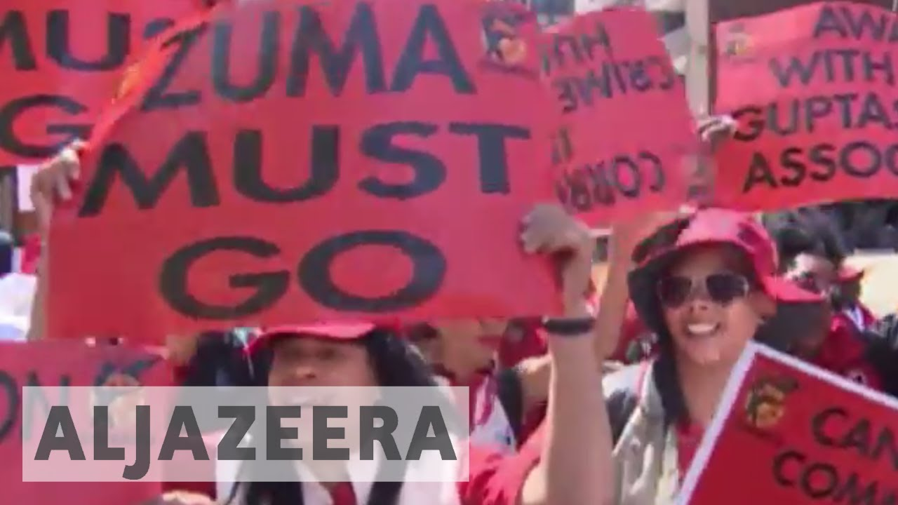 Thousands march against corruption in South Africa.