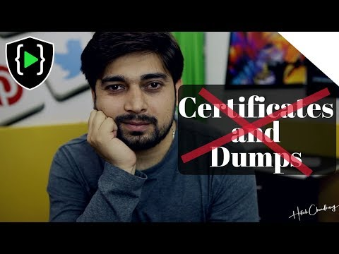 Certifications and Dumps - A serious issue