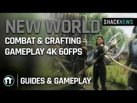 New World - Combat & Crafting Gameplay 4k 60fps