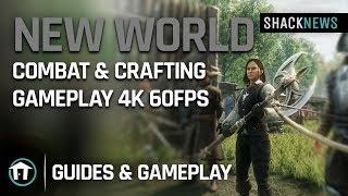 New World - Combat & Crafting Gameplay 4k 60fps
