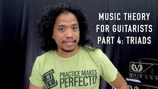 Music Theory for Guitarists Part 4: Triad Building, application to CAGED forms
