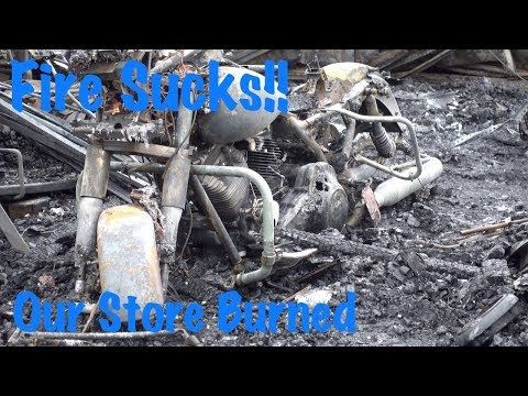 Motorcycle Parts Store Fire-trying To Rebuild-complete