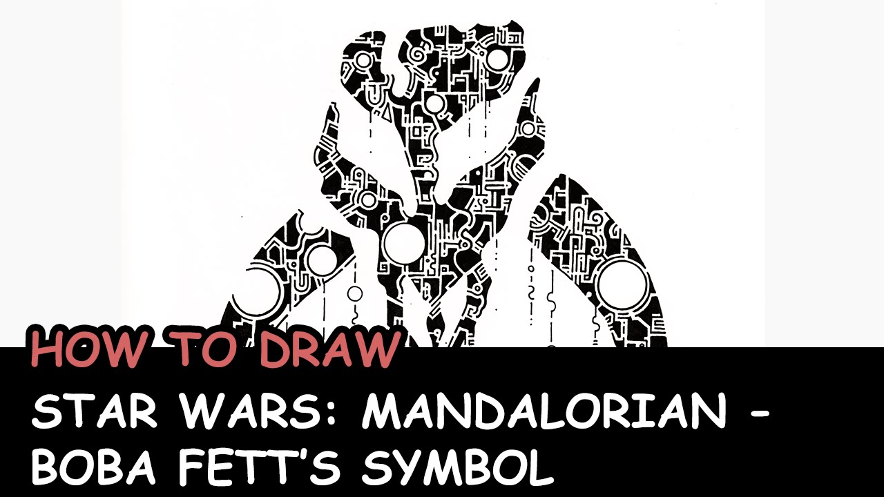 How To Draw Star Wars Mandalorianboba Fetts Symbol Youtube