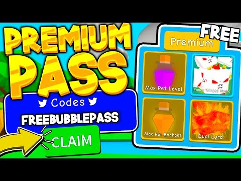 How To Get A FREE PREMIUM BUBBLE PASS In BUBBLE GUM SIMULATOR! (Roblox)