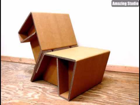sessel karton pappe pappe m bel sofa aus pappe youtube. Black Bedroom Furniture Sets. Home Design Ideas