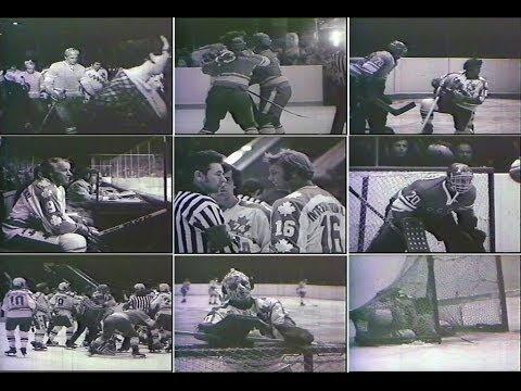 Team Canada 1974 Vladislav Tretiak against Bobby Hull.