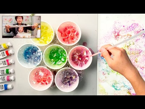 Bubble Painting Technique | Basic Easy Fun Art for Kids