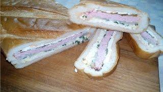 Фаршированный Батон, Хлеб, Багет без запекания (EN)