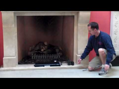 Wilshire Fireplace - Gas Log Remote Control - YouTube