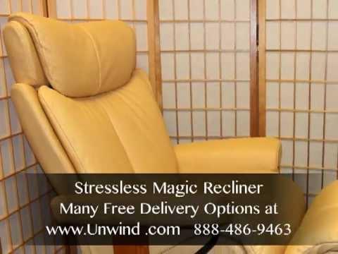 Stressless Magic By Ekornes Brandy Leather Free In Ho Doovi