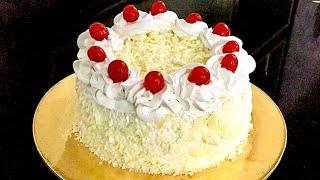 White Forest Cake Without Oven  White Forest Cake Recipe  Anisha Recipe