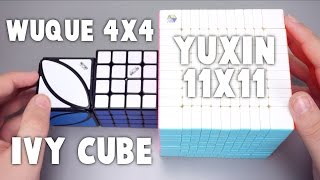 QiYi WuQue 4x4, Yuxin 11x11, and Ivy Cube Unboxing! | TheCubicle.us