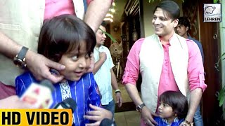 Vivek Oberoi Cutely Play's With His Son Vivaan | LehrenTV