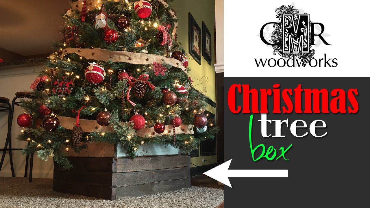 Wooden Christmas Tree Stand Box
