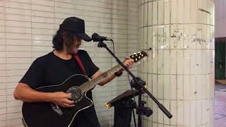 Tell Laura I love her cover by Pao, Oct 13, 2017 @Central Pier 3 busking