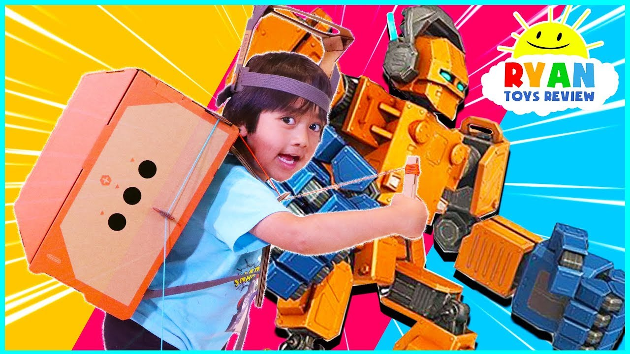 Nintendo Labo Build and Control Your Own Giant Robot with Cardboard!!!