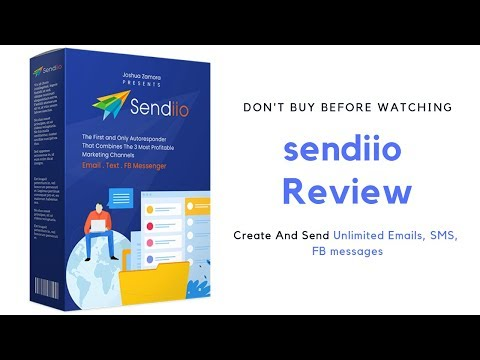 Sendiio Agency Review 2019 - Create And Send Unlimited Emails, SMS, FB messages. http://bit.ly/2ZuenQ2