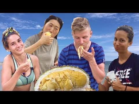 People Try Durian For The First Time! (SMELLIEST FRUIT In The World)