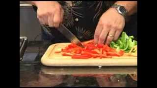 How to slice and dice bell peppers
