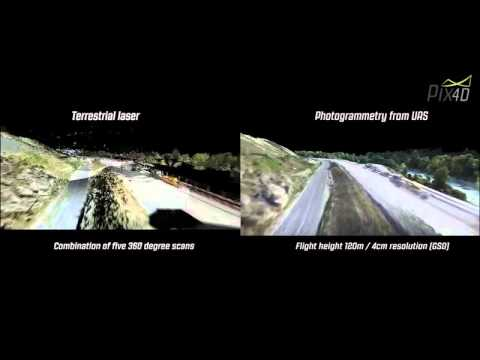 Pix4D Comparison Of Terrestrial Laser Scan And Photogrammetry Using UAVs
