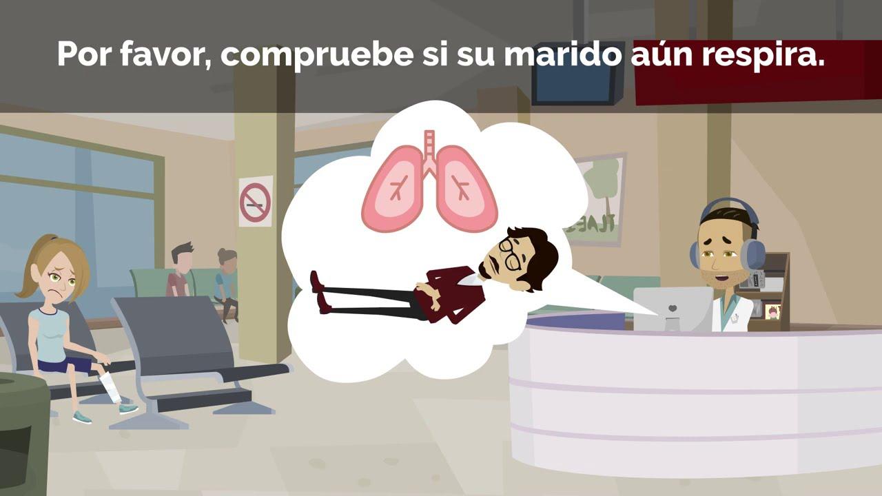 Accidentes y cómo llamar a la ambulancia. Vocabulario sobre emergencias. /