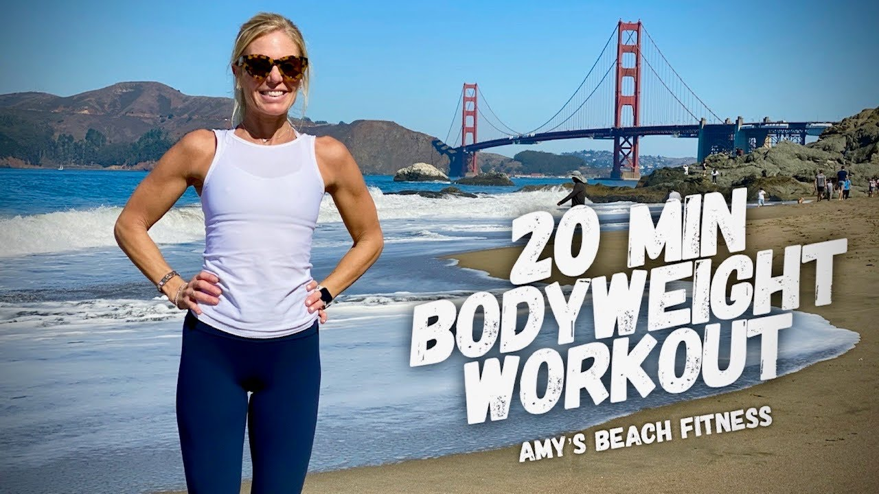 20 MIN Bodyweight Workout at the Beach in San Francisco