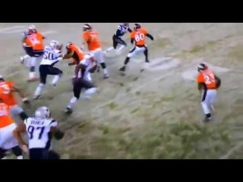 Ronnie Hillman touchdown versus Patriots Nov. 29, 2015