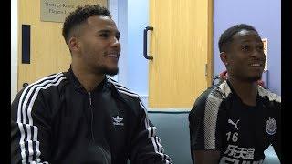 FIFA 18 | Newcastle United's Jamaal Lascelles and Rolando Aarons go head to head