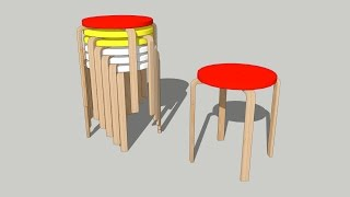 How To Draw Ikea Forosta Stool On Sketchup