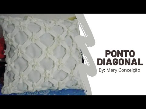 Almofada De Capitonê Diagonal Passo A Passo Youtube