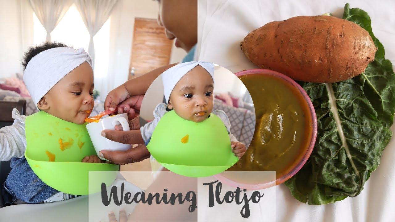 Vlog: Starting Tlotjo On Solids | Making Homemade Purees | Dimpho Maponyane | South African Youtuber