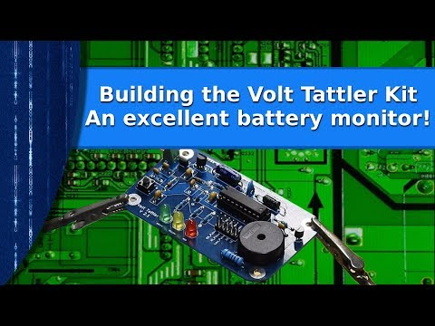 Ham Radio - Building the Volt Tattler kit,  a great battery monitor!