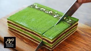 Matcha  Layer Cake Recipe 抹茶のオペラの作り方