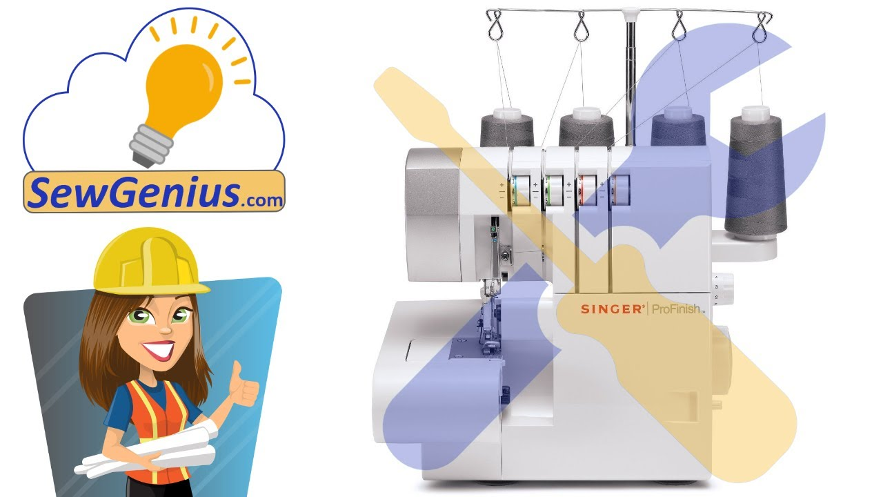Singer 14CG754 ProFinish Serger - What It Sounds Like When Running