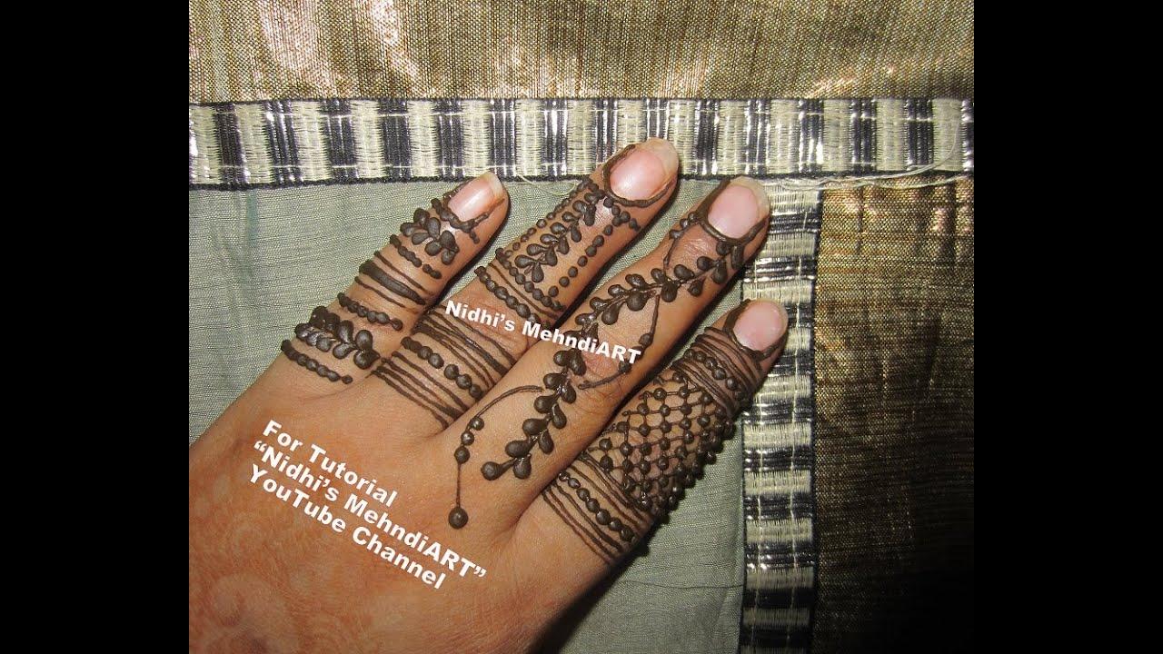 Mehndi Fingers Rating : Diy free hand henna mehndi design for fingers tutorial youtube
