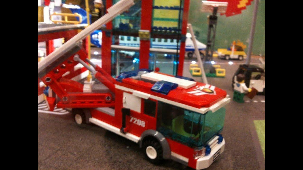 lego city caserne camion pompiers youtube. Black Bedroom Furniture Sets. Home Design Ideas