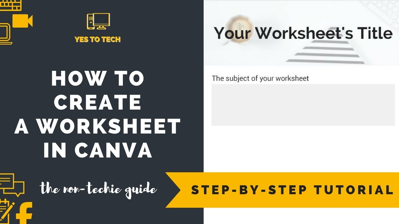 How To Create A Worksheet In Canva Create Online Course Worksheets