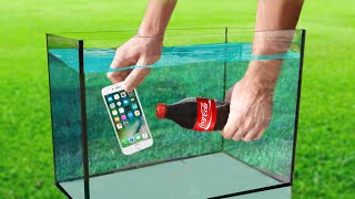 Experiment: iPHONE vs Coca Cola and MENTOS Under Water!