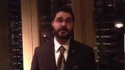Hunter, the wine sommelier at Fairmont Dallas Pyramid Restaurant
