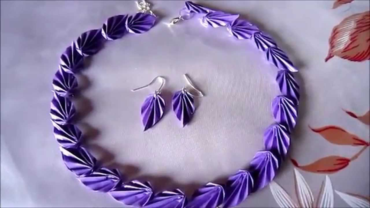 Handmade Jewelry - Origami Paper Leaves Jewelry Set (Code - FAH199 ...