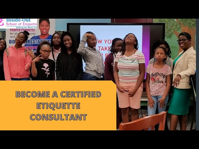 BECOME A CERTIFIED ETIQUETTE CONSULTANT | 5-Week Master Class