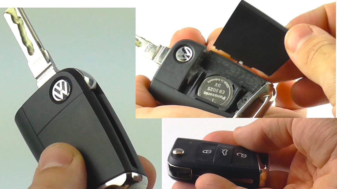 how to change battery vw key