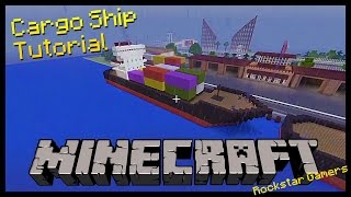 Minecraft Tutorial - How to Build a Cargo, Container, or Freight Ship