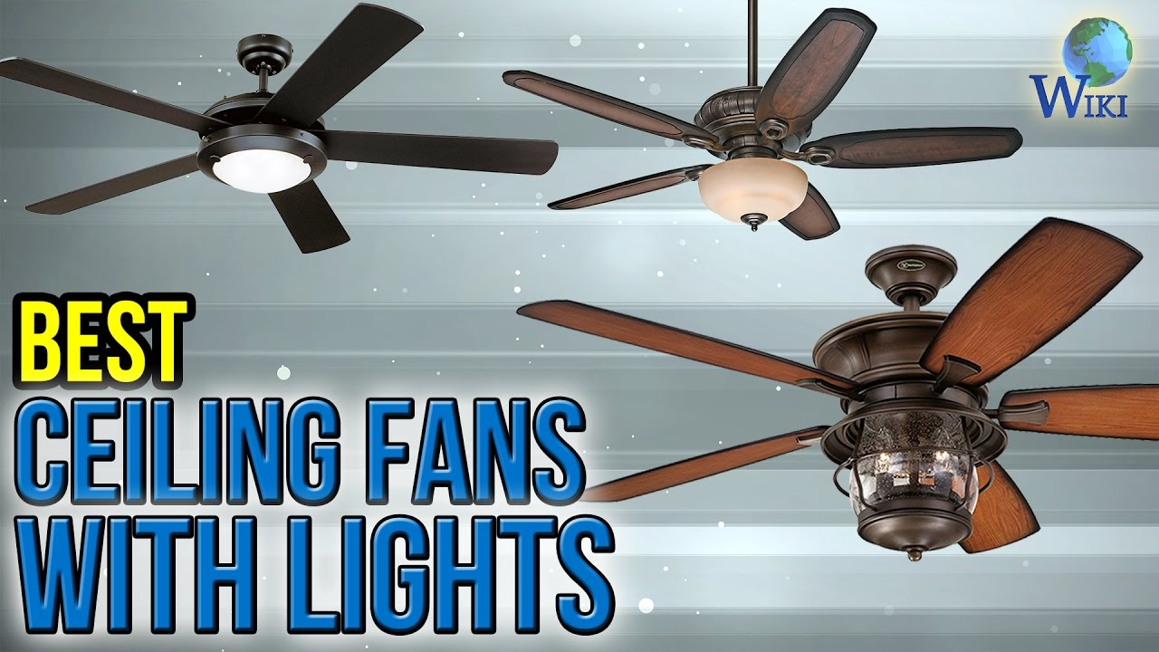 10 Best Ceiling Fans With Lights 2017 - YouTube