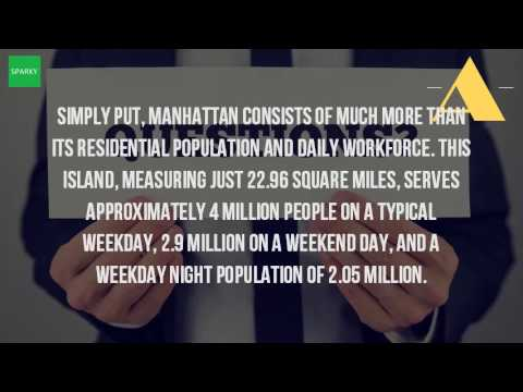 How Many People Are In Manhattan Daily?