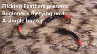 Fly tying for beginners, fly no 1 a simple buzzer