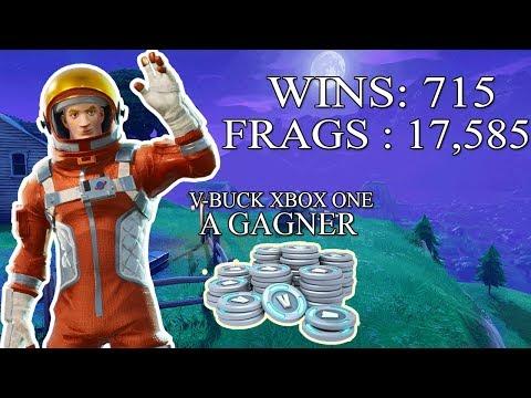 [FR/PC/LIVE] V-BUCK Xbox one à gagner / Fortnite  en solo 715 wins /  lvl 78  / 100